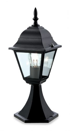 Firstlight P203BK Black 4 Panel Lantern - Pillar